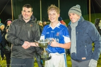 Captain Neil Kerr with Louth Schools Chairman Paul Malone and Secretary Cathal Giblin